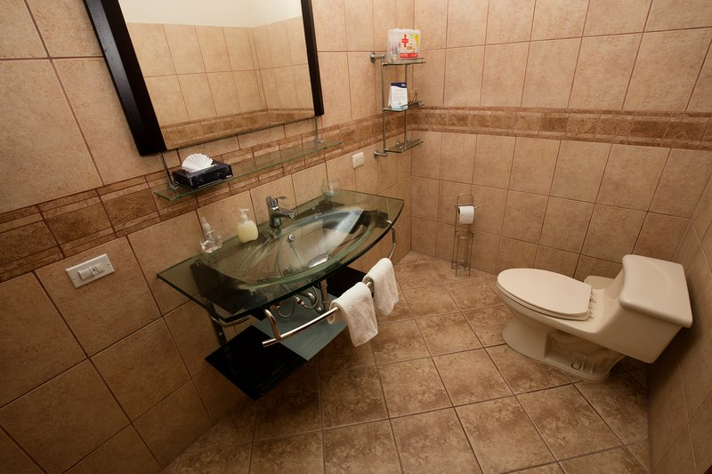 Spacious, confortable and sparkly clean Bathrooms. We strive for comfort, commodity and cleanliness.