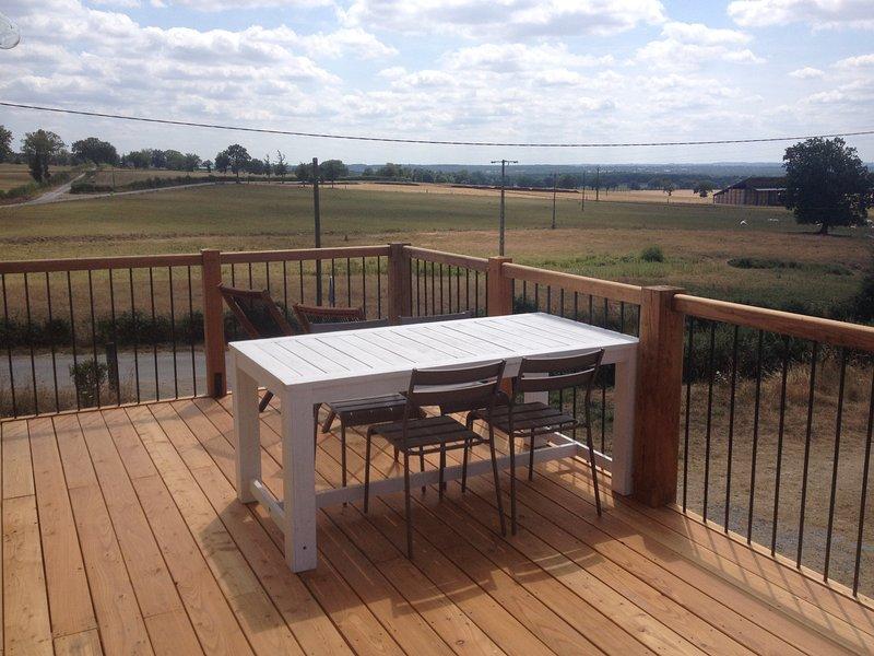 spacious balcony with stunning views