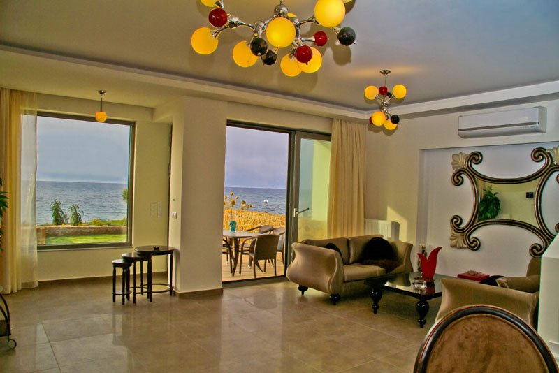 Sea View Beachfront Villa Peri, holiday rental in Epano Gouves