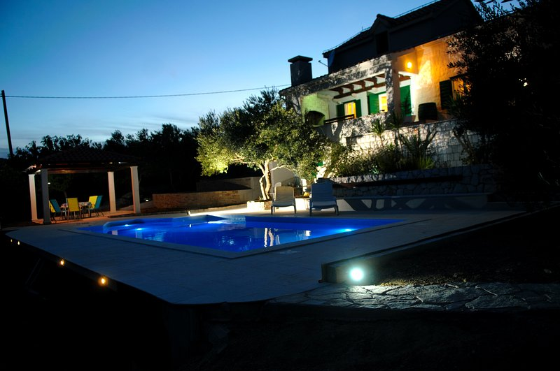 Villa Pax with a private swimming pool – semesterbostad i Prgomet