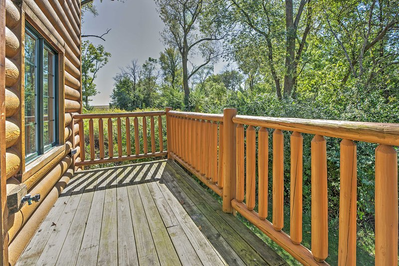 With a spacious back deck, this home offers a wonderful space to relax in the beautiful outdoors.