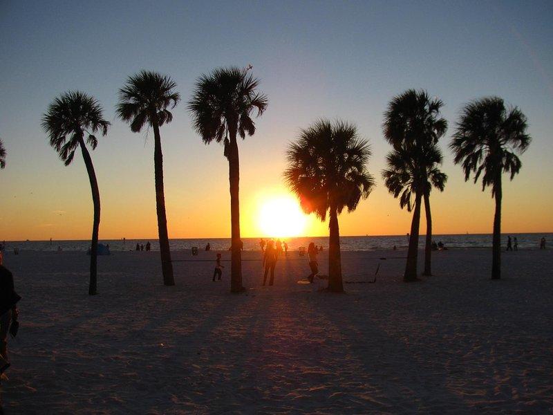 Ein wunderschöner Sonnenuntergang am Clearwater Beach.