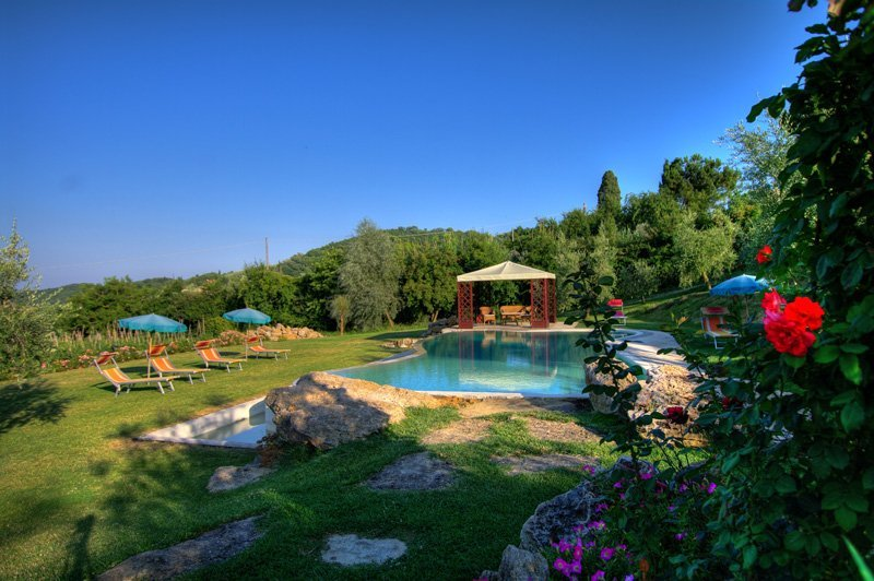 San Biagio, private house with pool and A/C just 900 meters to Montepulciano!, holiday rental in Sant'Albino