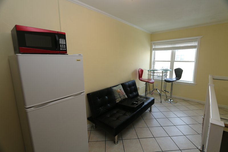 Small but very nice and ready for you.  Very close to the beach
