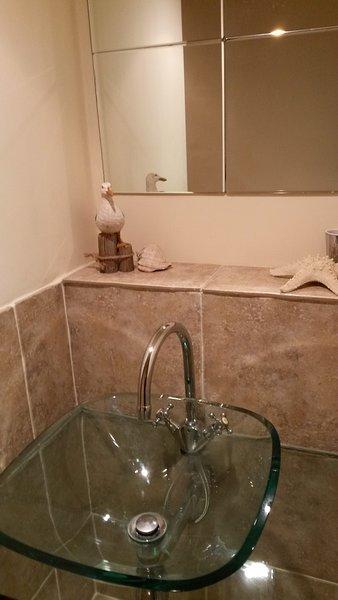 En bas salle de douche.
