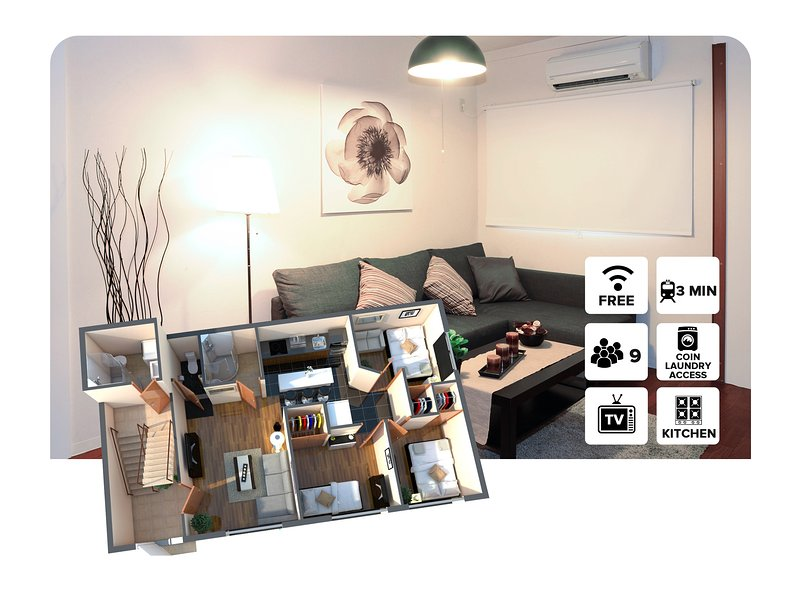 3 bedroom Apartment ! 3 Minutes walk from Tsutenkaku Station! #100, holiday rental in Namba