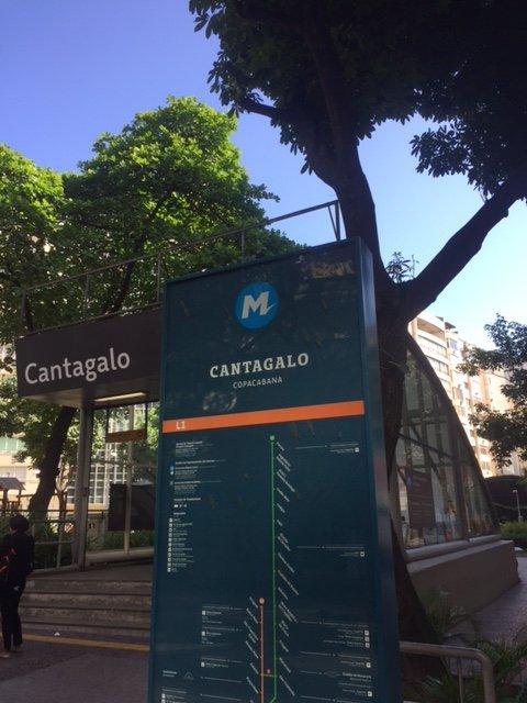 Subway station - Cantagalo (to Downtown, Old Town, Maracana) 5 min walking