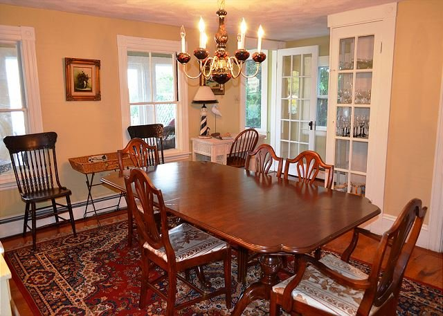 Dining room with access to sun porch.