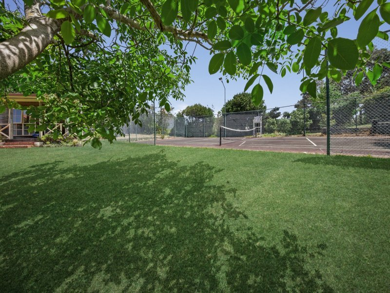 pista de tenis de tamaño mitad
