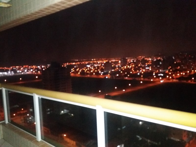 night view from the balcony
