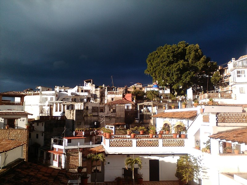 A Taxco August storm as viewed from the balcony.