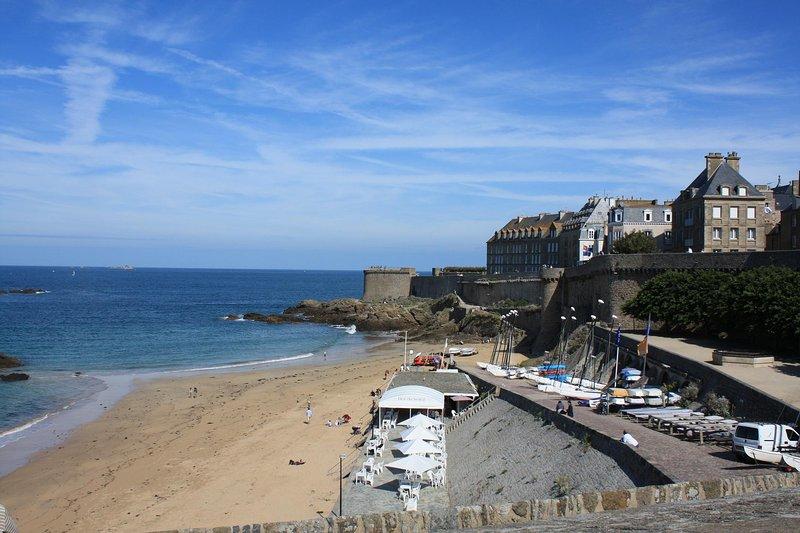 Una de las playas de St. Malo