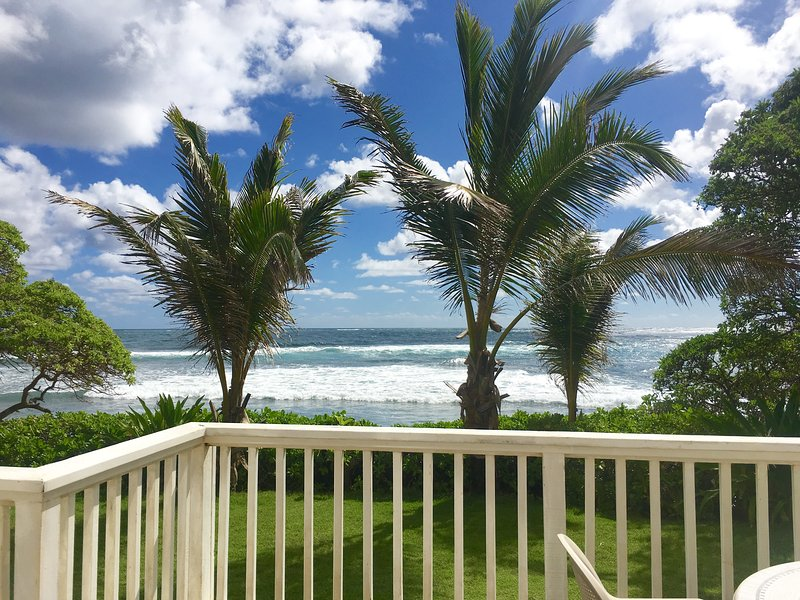 view of the ocean from the deck
