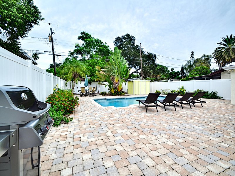 Enjoy the pool area with family