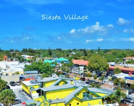 Nearby Siesta Village for Shopping and Dining