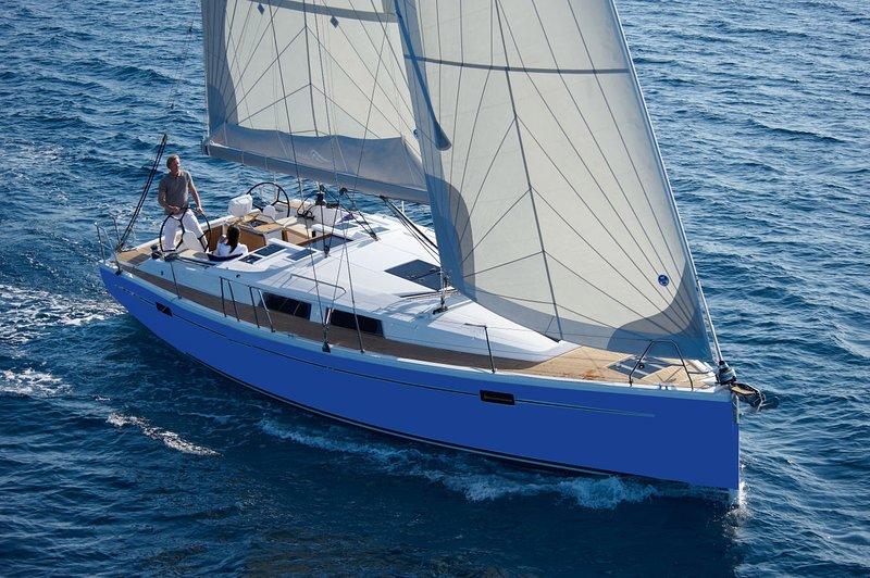 Amplio y lujoso nuevo Hanse 385 velero.