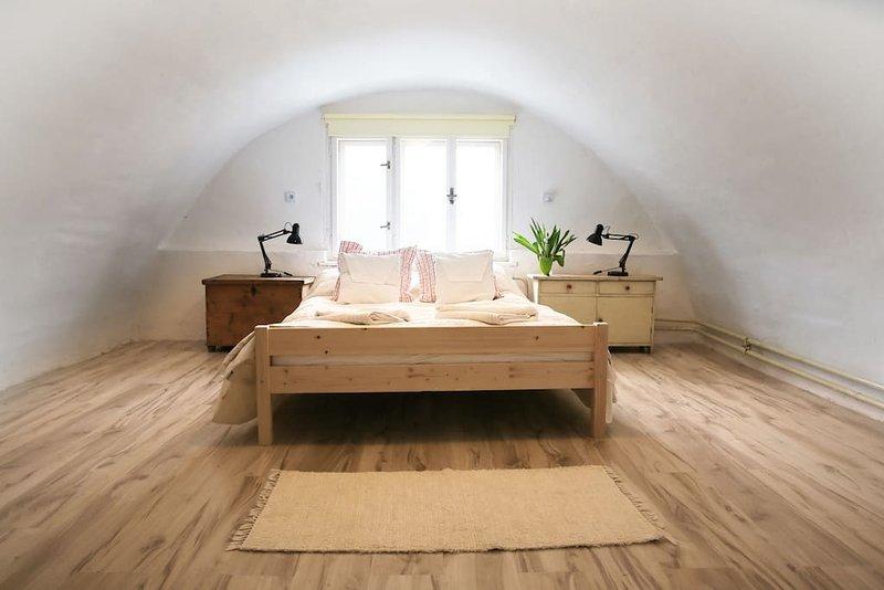 La camera da letto a volta