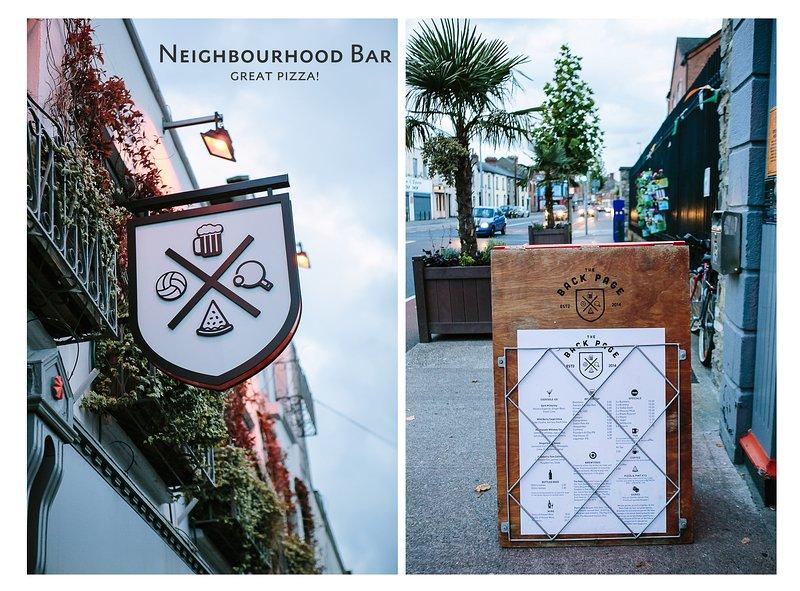Neighbourhood Bar, serves great pizza!