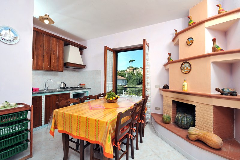Kitchen with terrace