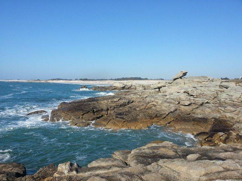 rochas Goudoul e da praia 3,5 km
