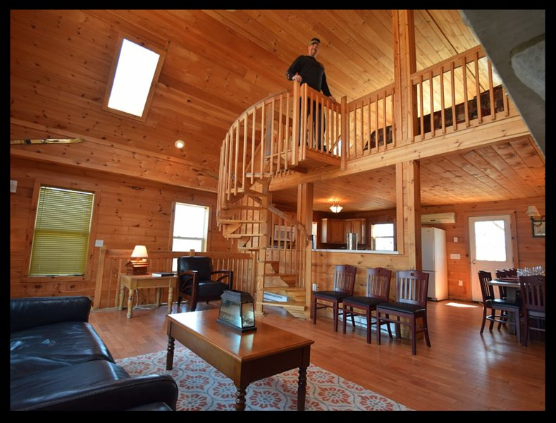 Spacious all wood great room