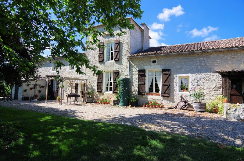 Front view. All cottages have a private outside seating space and access to our 7 acres of garden.