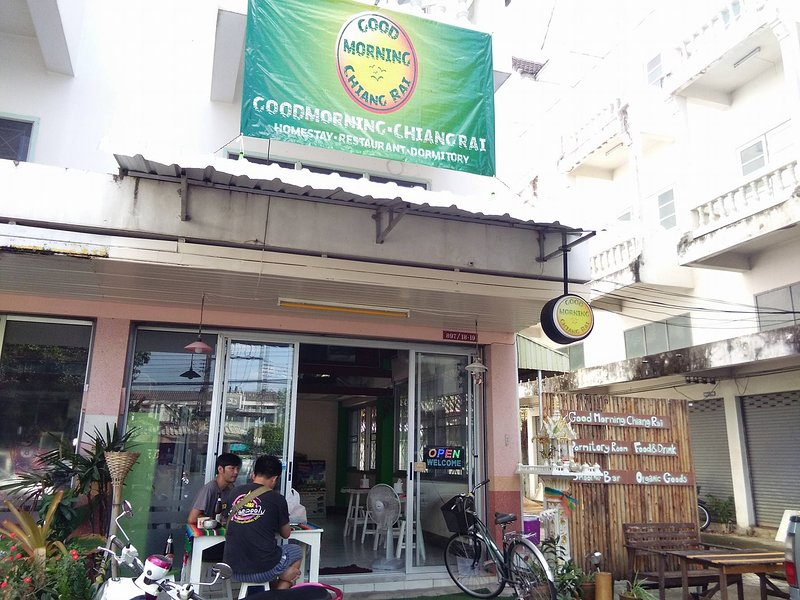 GOOD MORNING CHIANGRAI hostel homestay is renewed! We now have 14 beds available & a terrace garden.