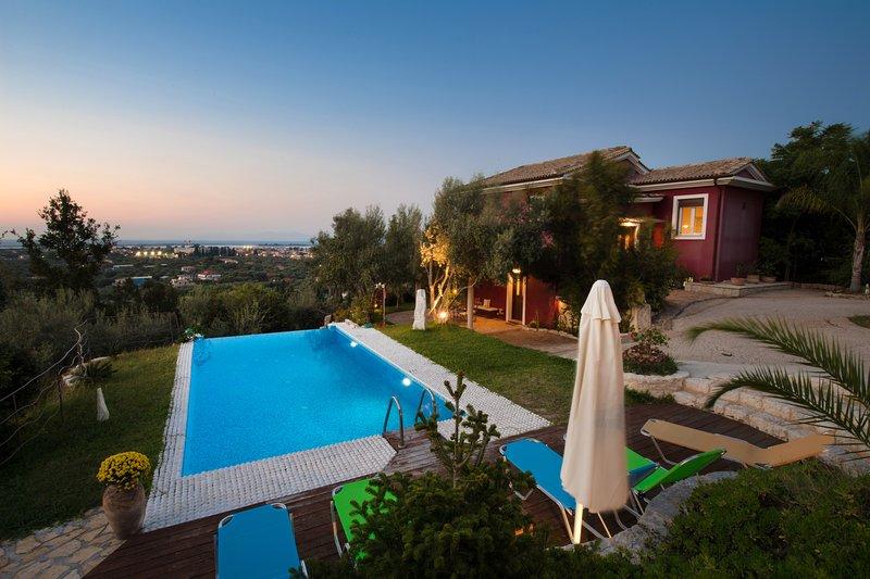 Uma vista da villa Dioni