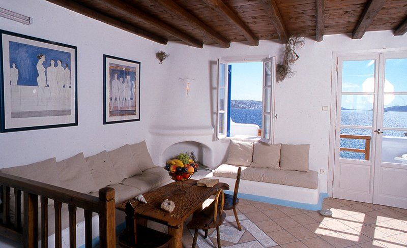Mykonos Agios Stefanos Beachfront Traditional Home
