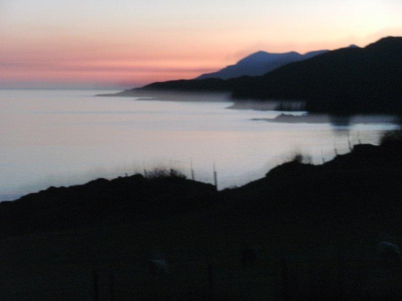 Abendansicht von in der Nähe Aird.