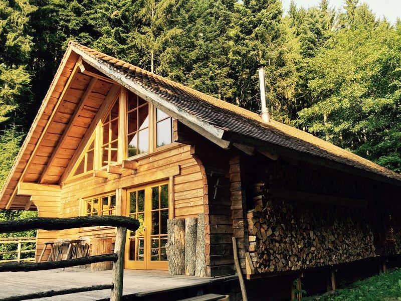 Block House Bois de chauffage stock pour l'hiver - genütliche temps, le poêle à bois