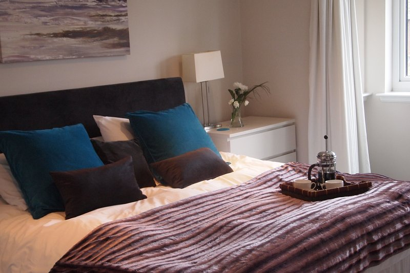 Treat yourself to fresh brewed coffee in bed in the master bedroom with superking bed and ensuite