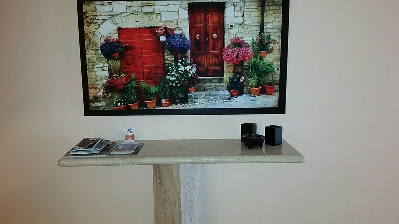 colorful picture in hallway and info about our beautiful town, plus info about the all inclusive