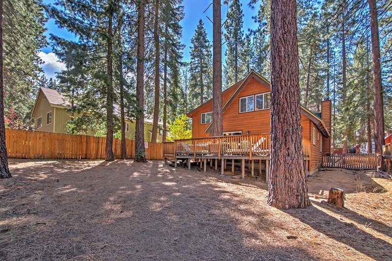 A private location amidst the Tahoe wilderness ensures peace and quiet.