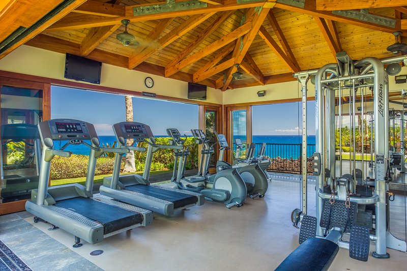 Oceanfront work out facility located at the pool.