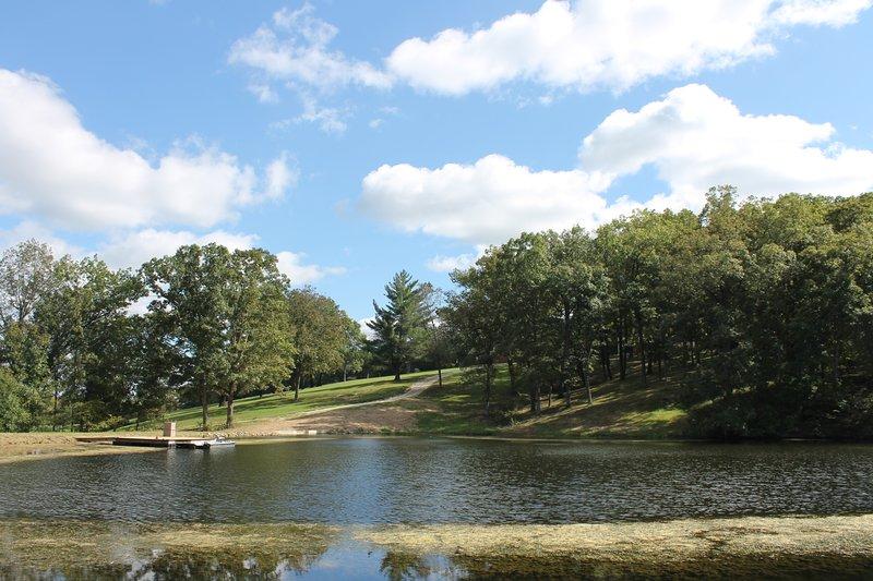 Captura y liberación del lago por debajo de la casa club