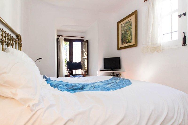 Un dormitorio plana