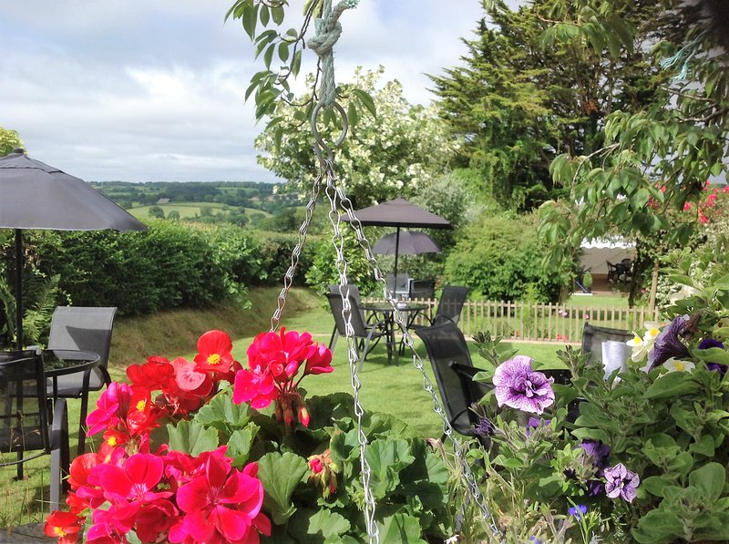 Front garden where cream teas are served