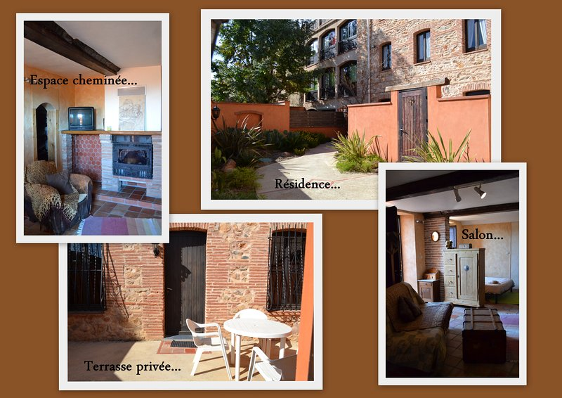 Grand studio meublé avec terrasse, holiday rental in Canohes