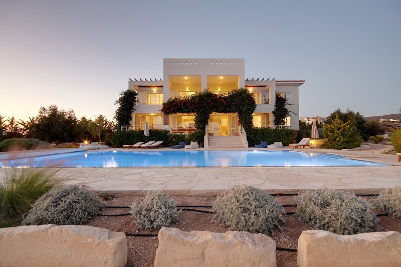 Fab villa by night
