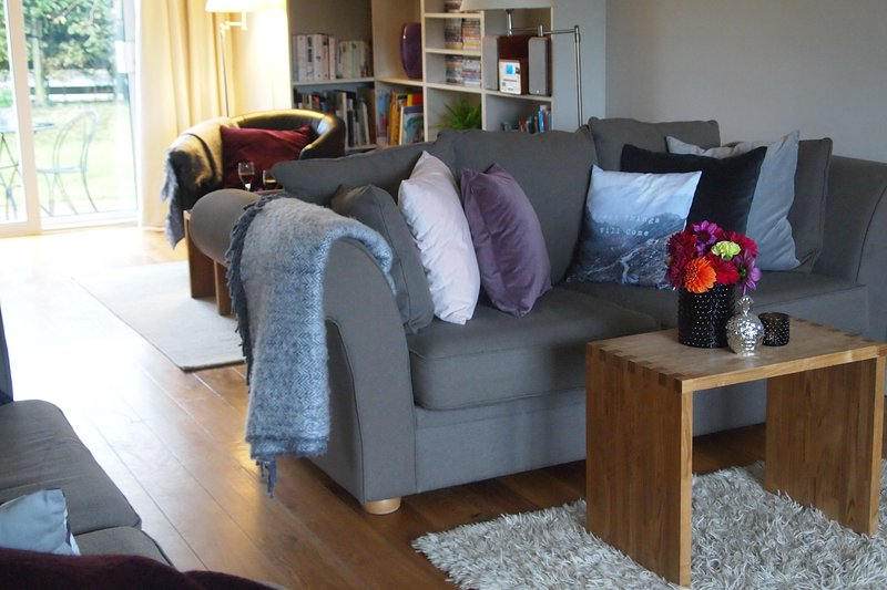 Cosy up on the squashy sofas with a soft throw