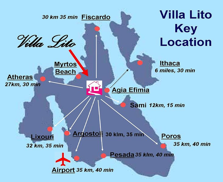 Villa Lito Key Localisation