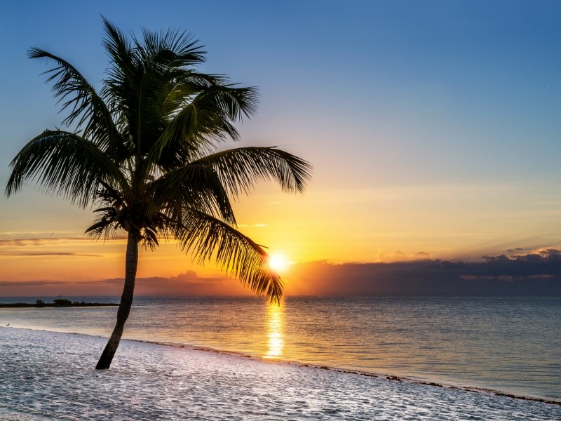 Sandy beaches and amazing sunsets in Key West