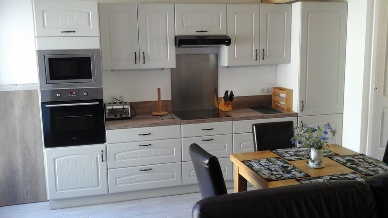 Newly fitted kitchen.