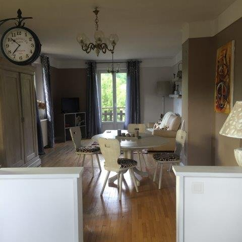 View from the kitchen to the living room
