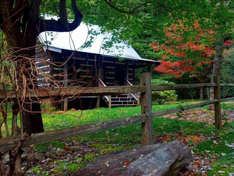 Creekside Log Cabin Rental Walnut Falls Has Wi Fi And Air