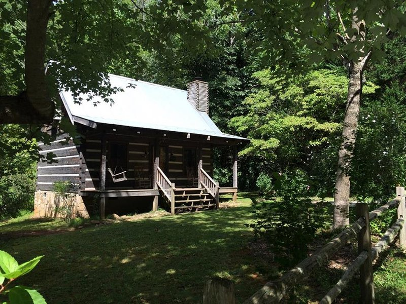 Walnut Falls Cabin in the summertime.  A great cabin destination any time.
