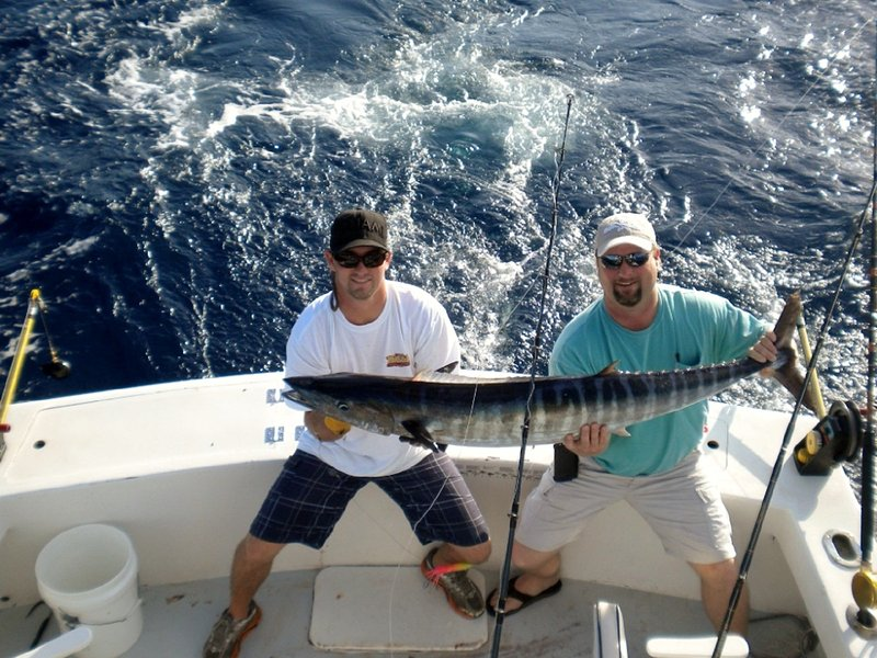 Catch some big fish off our reefs or offshore such as this big 'Wahoo'