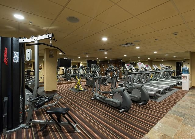 Gym across the highway at the Durango Mountain Club