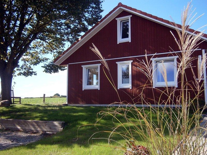 Urlaub im neuen Holzhaus, das Lindhus in Grödersby, holiday rental in Ulsnis
